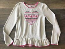 Gymboree Girls/'Navy Blue Sweater w// Pink Ivory Horses NWT GYM23
