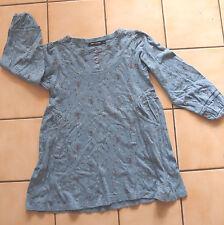Tunique Robe bleue avec peties fleurs - Tout Compte Fait  - Taille 8 ans