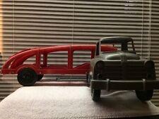 VTG Original Ideal Toy Corp  Dodge Or International Truck Auto Transport Trailer