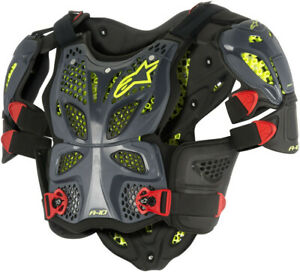 ALPINESTARS A-10 FULL CHEST PROTECTOR ANTHRACITE/RED X/2X 6700517-1431-X-2XL