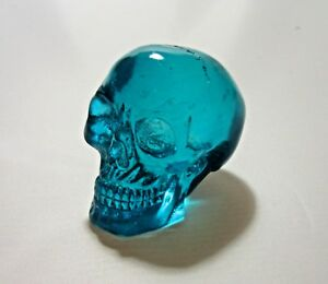 """Clear Acrylic Resin Human Skull Figurine 2"""" Choose from 4 colors"""