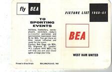WEST HAM UNITED FOOTBALL CLUB 1960/61 SEASON.