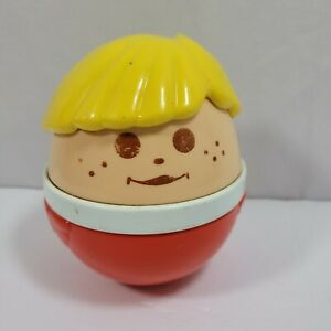 """Little Tikes Chunky People Boy Roly Poly Musical Chime Child's Ball Toy 5"""""""