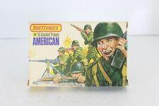 Matchbox 1//32 soldiers Figurines 15 Combat troops American P-6003