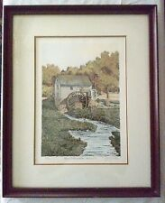 Jerry Miller Signed and No. Print 'Bailes Old Mill' Oak Ridge, North Carolina