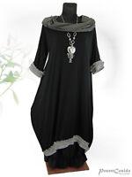 PoCo DeSiGn LAGENLOOK Ballon-Kleid schwarz L-XL-XXL-XXXL 44-46-48-50-52-54-56