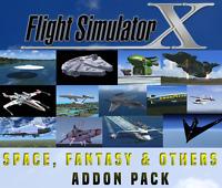 Flight Simulator X FSX Addon Bundle - Space, Fun, Fantasy & Other Aircrafts 20+