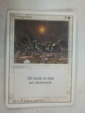 MTG Magic the Gathering English Armageddon 1994 3rd Revised LP Off Center Miscut