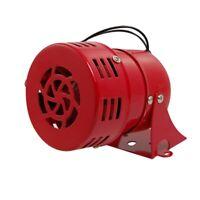 1X(AC 220V Rojo Metal Motor Impulsado Ataque Aereo de Sirena Cuerno de Alarma YU