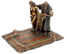 Orientalische Erotik Figur Teppichhändler u. Sklavin, signiert