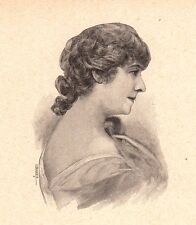 Portrait Julia Bartet Jeanne Julie Regnault Théâtre Comédienne Comédie Française
