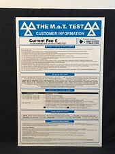 MOT TEST sign Used Plaque Sign Bar Pub Club Wall Home Den Man Cave Decor Shed