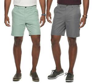 New Croft & Barrow Mens Classic-Fit Flat-Front Quick-Dry Performance Shorts
