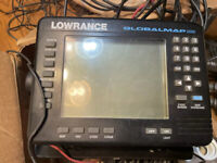 Lowrance Global Map 2000 Display w/ Card Reader GPS receiver SAM-ST Fish Finder