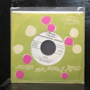 "The Platters – Wish It Were Me / Where VG+ Promo 7"" Vinyl 45 Mercury 71502X45"