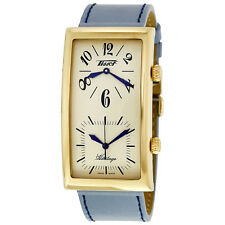 Tissot Heritage White Dial Blue Leather Ladies Watch T56.5.623.39