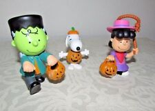 Peanuts Halloween Figurines 3pk Cowboy Lucy Pumpkin Snoopy Frankie Charlie Brown