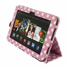 """NEW Kyasi Seattle Classic Tablet Case for Amazon Kindle HD 8.9"""" Pink Polka Dots"""