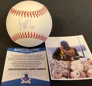 Luis Robert Chicago White Sox Signed MLB Baseball Beckett WITNESS COA #88 .