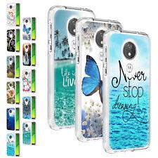 For Motorola Moto G7 Power/E5 Plus G8 Play One Pro Slim Hybrid Pattern Back Case