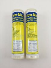 """2 Flow-Max Pleated 1 Absolute Micron Filter 9.75"""" x 2.5"""" Remove Cyst FM-1A-975"""