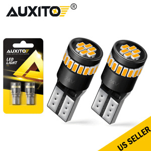 AUXITO T10 LED W5W AMBER WEDGE BULB CAR INDICATOR REPEATER TURN SIGNAL LIGHTS
