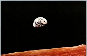 Vintage Postcard 1968 NASA Earth View Planet Space Apollo 8 Christmas Eve