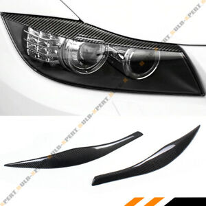 FOR 2006-11 BMW E90 E91 328i 335i M3 CARBON FIBER HEADLIGHT EYELID EYEBROW COVER