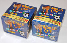 Panini World Cup Story 90 1990 - 2 x DISPLAY BOX sealed/OVP 100 Tüten packets