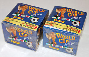 Panini World Cup Story 90 1990 - 2 X Display Box Sealed/Boxed 100 Bags Packets