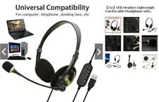 Way one usb type headset black color with noise cancelling feature bass sound