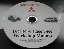 MITSUBISHI DELICA L400 WORKSHOP MANUAL & 2.8 TD 4M40 ENGINE MANUAL & WIRING DIAG