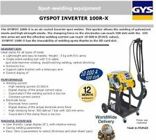 GYS 100R-X INVERTER SPOT WELDER FOR GALVANIZED + HIGH STRENGTH STEELS 10000 RMS
