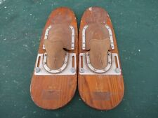 """Rare Vintage Set of Wooden 21"""" Long by 7"""" Wide Waterskis Water Skis"""