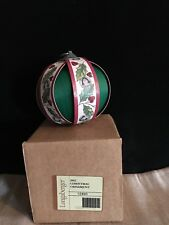 Longaberger 2012 Christmas Ornament - New