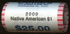 "2009 Sacagawea ""Unopened"" Bank Dollar 25 Coin ROLL in ""Beautiful"" Condition"