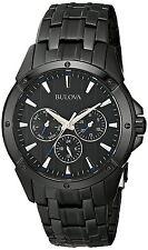 Bulova Classic Men's 98C121 Quartz Multifunction Black Bracelet 43mm Watch