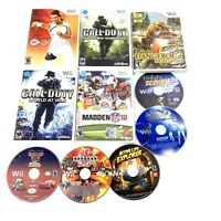 Lot of 10 Nintendo Wii Games Assorted Sports Shooters Kids Fitness Bundle Tested