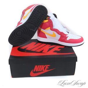 NIB Nike Air Jordan 1 555088-603 Retro High OG Light Fusion Red Sneakers 10 AJ1