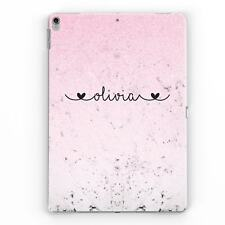 PERSONALISED FAUX GLITTER & MARBLE NAME HEARTS CUSTOM CASE COVER FOR APPLE IPAD
