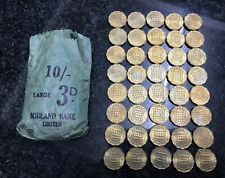 More details for 40, 1967 threepence coin excellent condition uncirculated midland bank money bag
