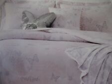 TAHARI Kids 5pc White Pink Butterfly Floral Comforter Throw Pillow Set - Twin