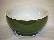 Old Vintage Restaurant Ware Small Mixing Bowl Green & White Kitchen Tool MCM