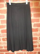 VINTAGE LONG LADIES SIZE 10 12 14 BLACK BOX PLEATED SKIRT POLY RAYON AUST MADE