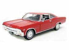 Welly 1:24 Display 1965 Chevrolet Impala SS 396 Hardtop Diecast Car Red 22417