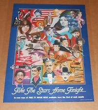 Free TV Movie News-Take the Stars Home Tonight 1981 Poster 24x17 (Mural of Famo