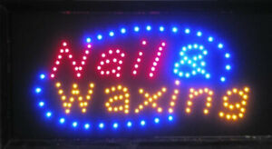 Neon Light Sign LED Banner Hair Cut Salon Beauty Nail And Waxing For Business