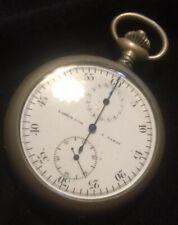 montre Ancienne Vintage L LEROY & Cie Paris GOUSSET Watch Chronographe