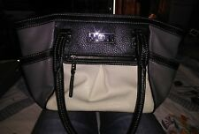 Chaps Gray white and black Leather Purse...cute and practical