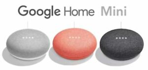 New Google Home Mini Home Smart Speaker with Google Assistant - Choose Color